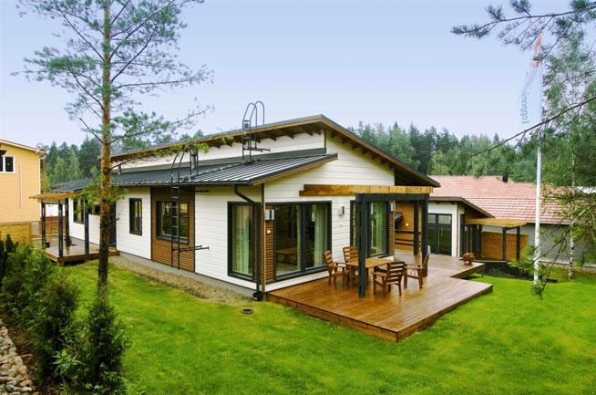 Купить сборный финский домик во франции