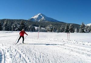 лыжник на итальянском курорте