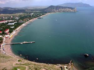 Морской берег Евпатории